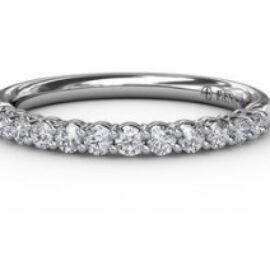 diamond shared prong anniversary band