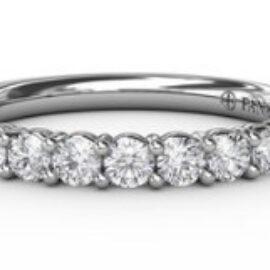 shared prong diamond anniversary band