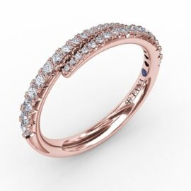 14kt gold thin bypass ring