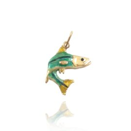 enameled jumping snook pendant