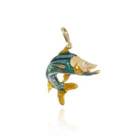 jumping snook pendant
