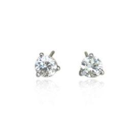 .35 carat total weight diamond stud earrings