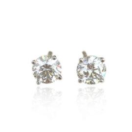 1 carat total weight diamond stud earrings