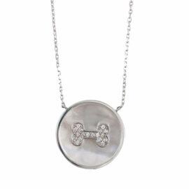 diamond dog bone necklace
