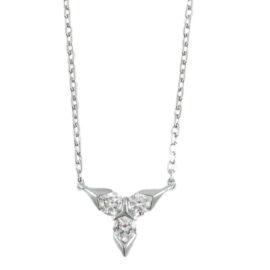 3 stone diamond necklace