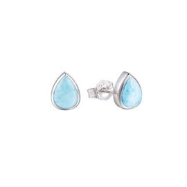larimar teardrop shape earrings