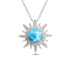 larimar sunburst necklace