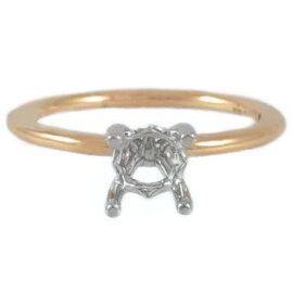 .75 carat 4 prong solitaire mounting