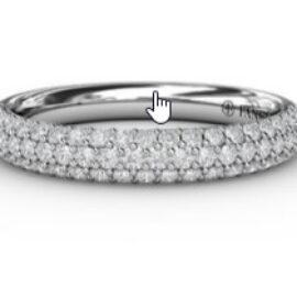micro-pave anniversary diamond band