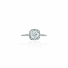 diamond wedding set with .49ct round