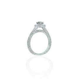 diamond halo engagement ring mounting