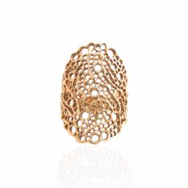 custom organic mesh ring