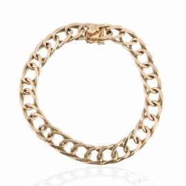 estate dbl oval link charm bracelet