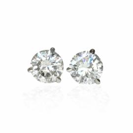 diamond stud earrings 1.53ctw