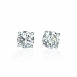 diamond stud earrings 2.00ctw
