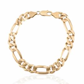 estate 10kt figaro link bracelet