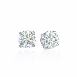 diamond stud earrings 4.37ctw