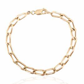 24806 estate 14ky oval solid link bracelet