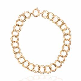 estate double link charm bracelet
