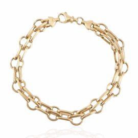 estate 14ky oval solid link bracelet