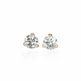 diamond stud earrings .28ctw