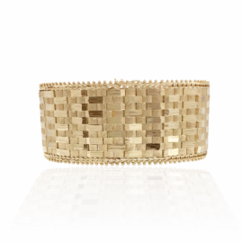 estate 25.5m m wide weave & bead bracelet