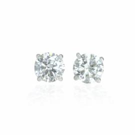 diamond stud earrings 2.01ctw