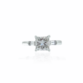 straight baguette engagement ring mounting