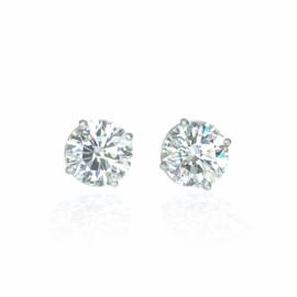 diamond stud earrings 3.22ctw