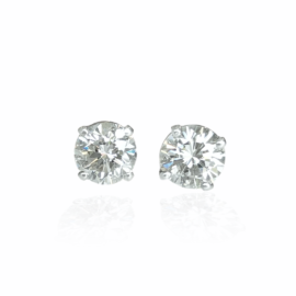 diamond stud earrings 1.46ctw