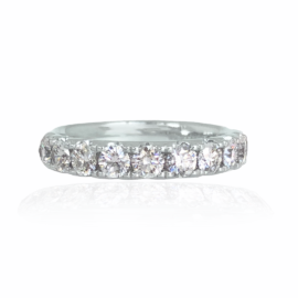 1.16 ct diamond wedding band