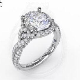 twisted halo diamond mounting