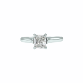 4 prong solitaire for radiant cut diamond
