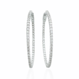 2.19ctw inside/out diamond hoops
