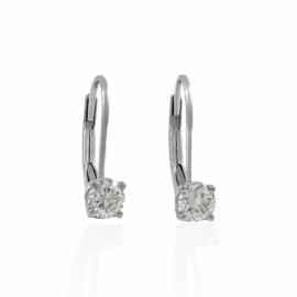 .42ctw diamond lever back earrings