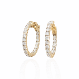 2.28ctw diamond inside/out hoops