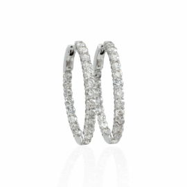 3.00ctw diamond inside/out oval hoops