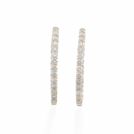 4.00ctw diamond inside/out oval hoops