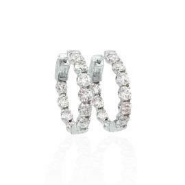 4.05ctw diamond inside/out hoops