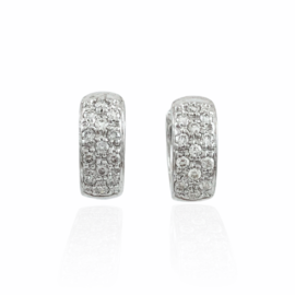 .29ctw diamond huggie earrings