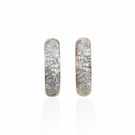 .16ctw diamond huggie earrings
